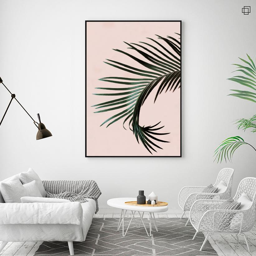 PALM TREE ON PINK Plakat