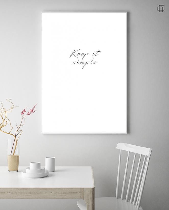KEEP IT SIMPLE Plakat