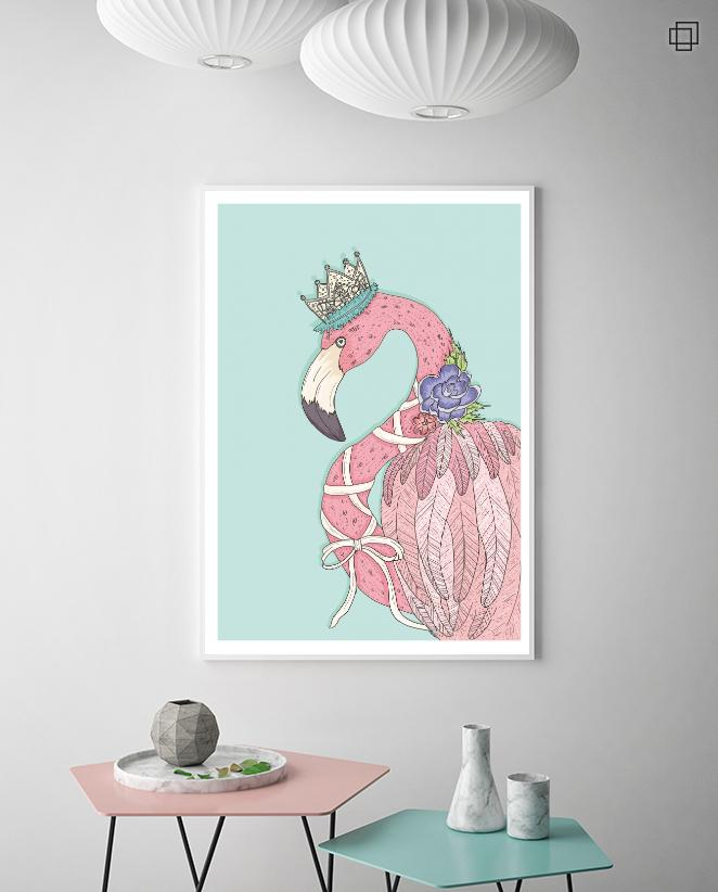 FLAMINGO QUEEN Plakat