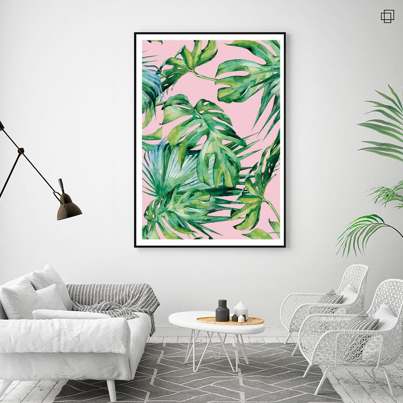 TROPIC PATTERN PINK ONE Plakat