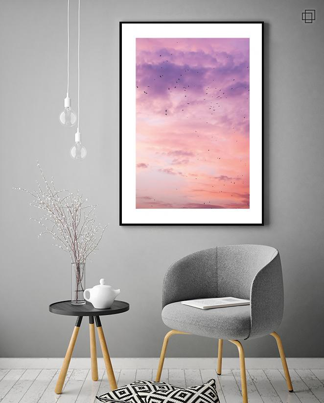 colorful sky Plakat
