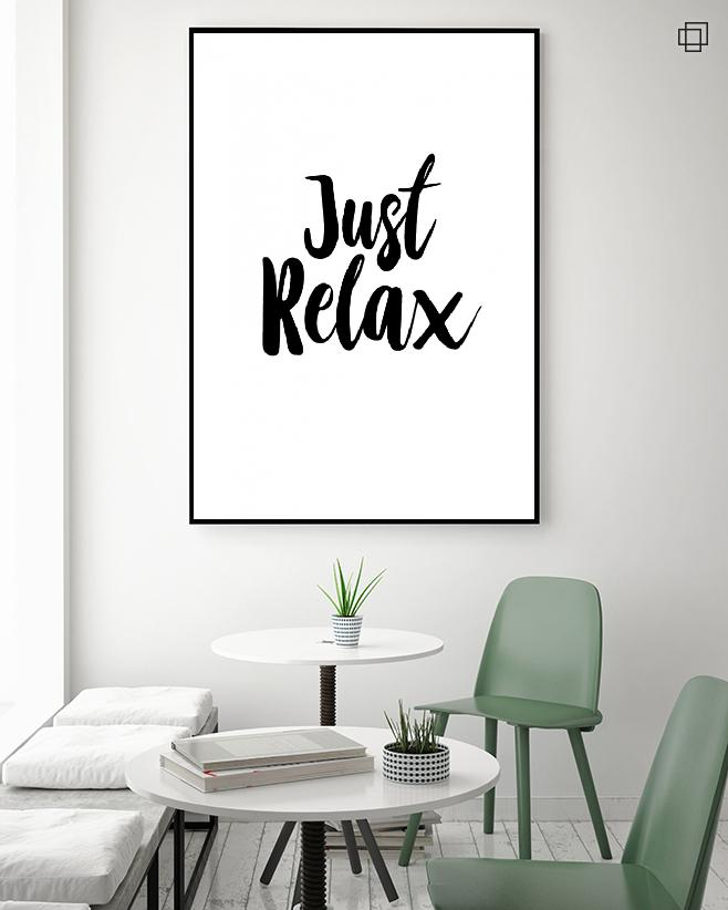 JUST RELAX Plakat