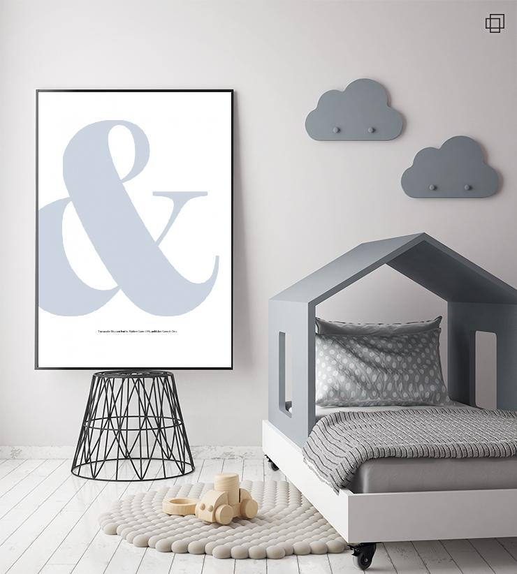blue ampersand Plakat