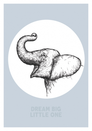 DREAM BIG ELEPHANT BLUE