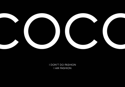 COCO CHANEL TEXT BLACK