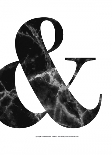 BLACK AMPERSAND MARBLE