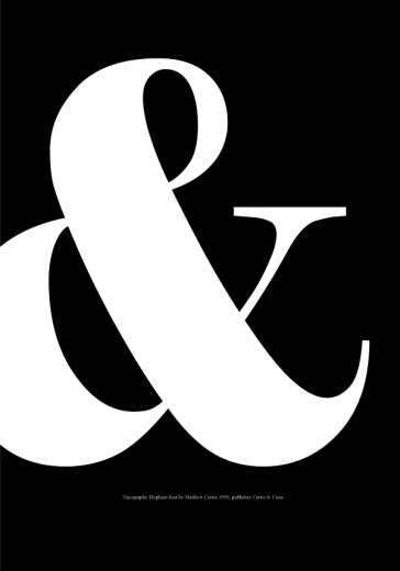 white ampersand
