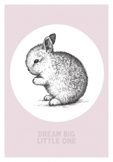 DREAM BIG BUNNY PINK