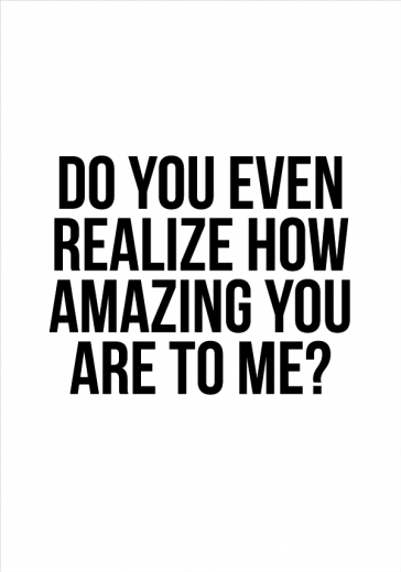 HOW AMAZING YOU ARE