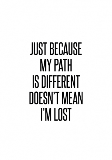 DIFFERENT PATH