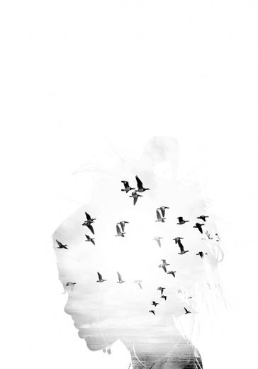 DOUBLE EXPOSURE WOMAN ART