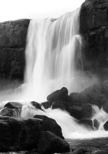 B&W WATERFALL