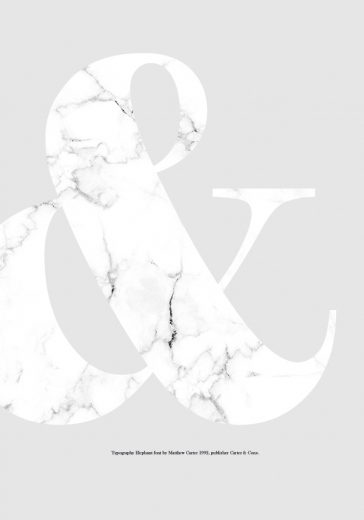 WHITE AMPERSAND MARBLE