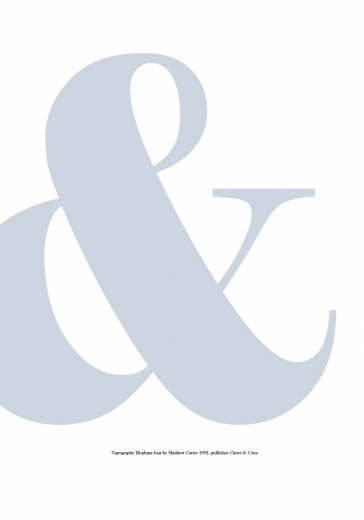 blue ampersand